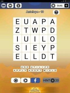 Word Camp Antelope Level 1-10