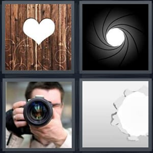 4 Pics 1 Word Answers For Heart Lens Camera Hole