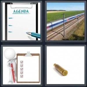 Agenda, Train, Clipboard, Casing