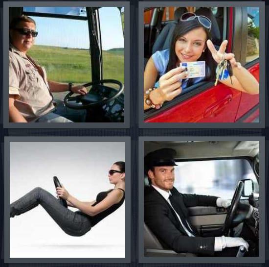 Trucker, License, Wheel, Chauffeur
