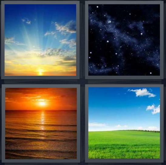 Sunrise, Space, Sunset, Day