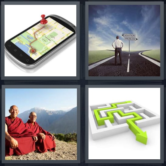 GPS, Path, Monks, Puzzle