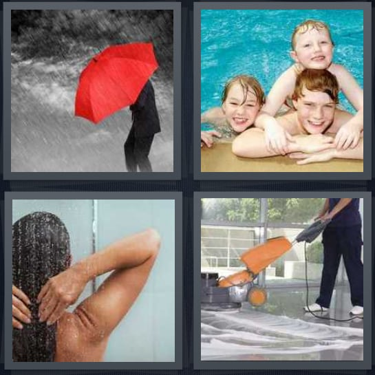 Umbrella, Pool, Shower, Clean