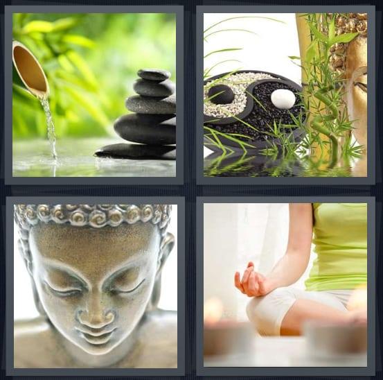 Garden, Yin Yang, Buddha, Meditate