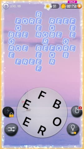 Word Crossy Level 103 Answers