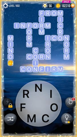 Word Crossy Level 1032 Answers