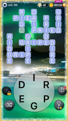 Word Crossy Level 1070 Answers