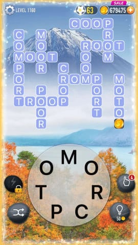 Word Crossy Level 1160 Answers
