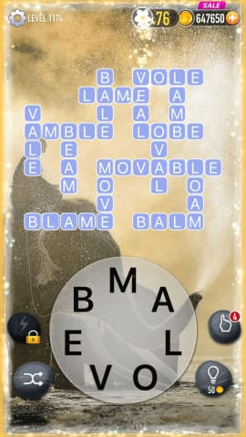 Word Crossy Level 1174 Answers
