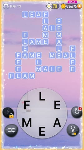 Word Crossy Level 121 Answers