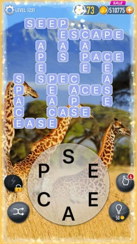 Word Crossy Level 1231 Answers
