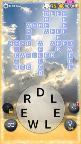 Word Crossy Level 1244 Answers