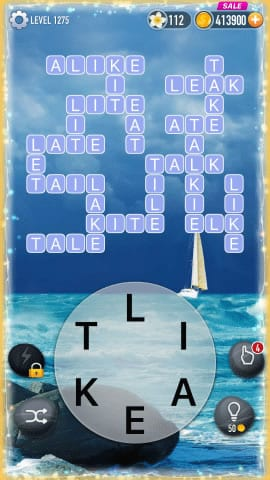 Word Crossy Level 1275 Answers