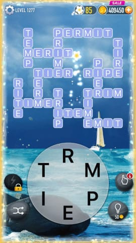 Word Crossy Level 1277 Answers