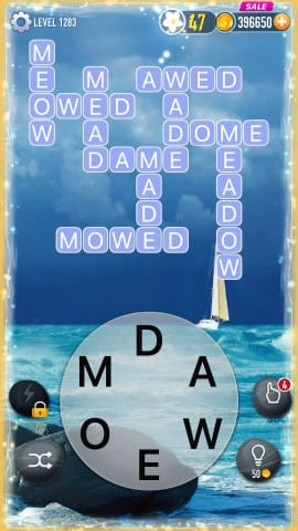 Word Crossy Level 1283 Answers