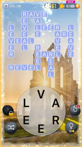 Word Crossy Level 1390 Answers