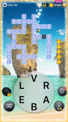 Word Crossy Level 1543 Answers