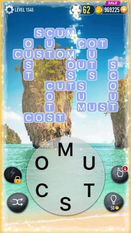 Word Crossy Level 1545 Answers