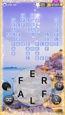 Word Crossy Level 1581 Answers