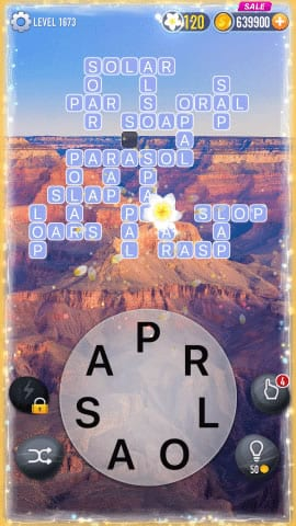 Word Crossy Level 1673 Answers