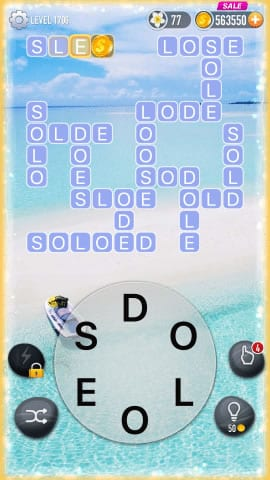 Word Crossy Level 1706 Answers