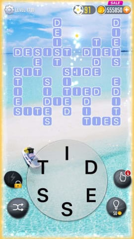 Word Crossy Level 1709 Answers
