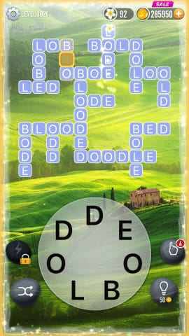 Word Crossy Level 1820 Answers