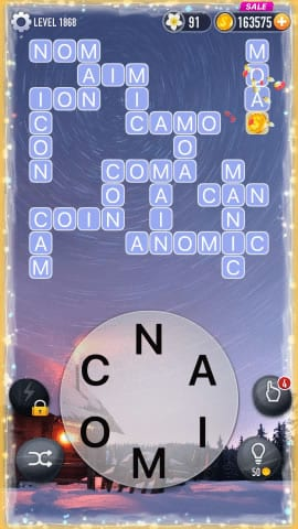 Word Crossy Level 1868 Answers