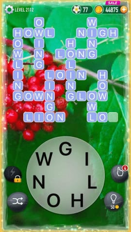 Word Crossy Level 2112 Answers