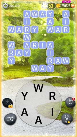 Word Crossy Level 2225 Answers