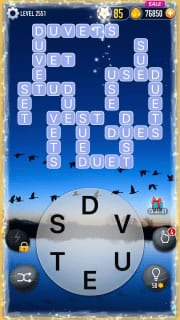 Word Crossy Level 2551 Answers