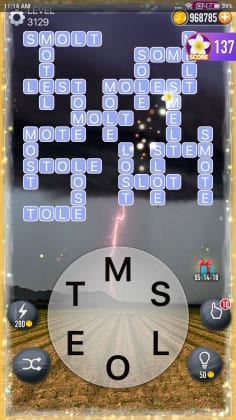 Word Crossy Level 3129 Answers