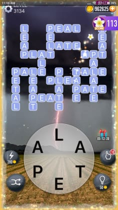 Word Crossy Level 3134 Answers