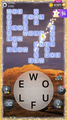 Word Crossy Level 3165 Answers
