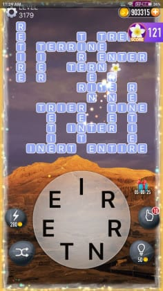 Word Crossy Level 3179 Answers