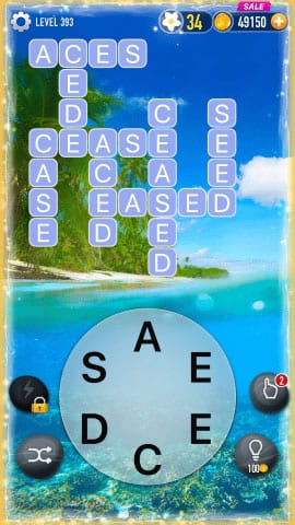 Word Crossy Level 393 Answers