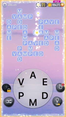 Word Crossy Level 415 Answers