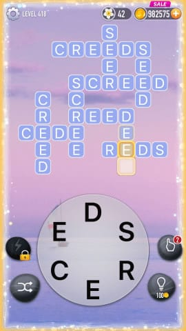 Word Crossy Level 418 Answers