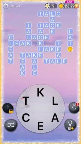 Word Crossy Level 424 Answers