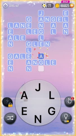 Word Crossy Level 447 Answers