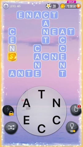 Word Crossy Level 465 Answers