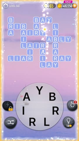 Word Crossy Level 545 Answers