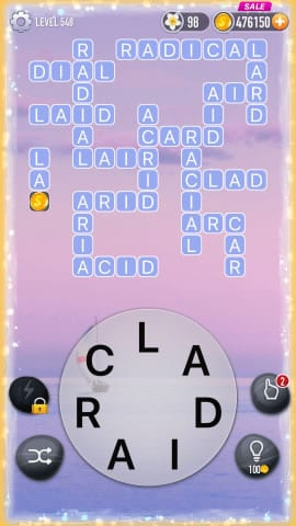 Word Crossy Level 548 Answers
