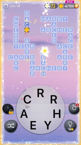Word Crossy Level 550 Answers