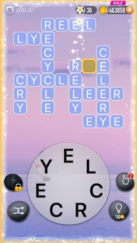 Word Crossy Level 551 Answers