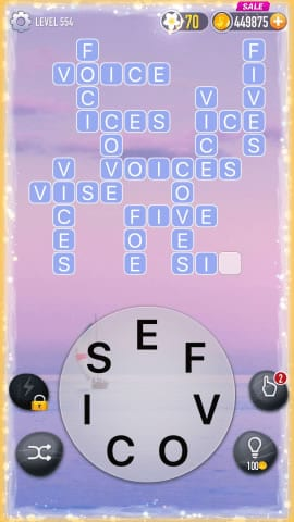 Word Crossy Level 554 Answers