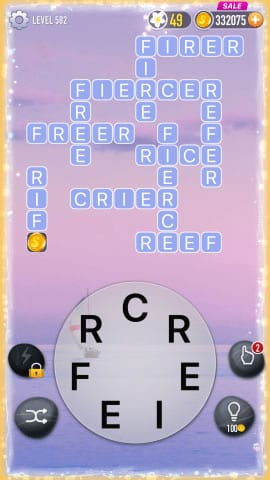Word Crossy Level 582 Answers