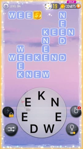 Word Crossy Level 584 Answers