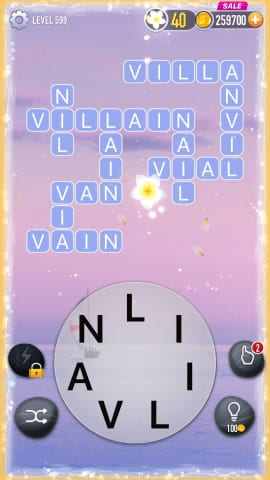 Word Crossy Level 599 Answers