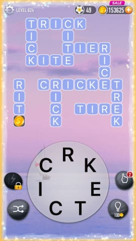 Word Crossy Level 624 Answers